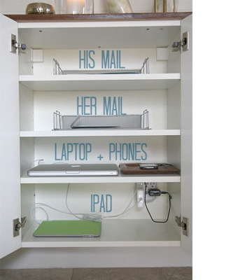 create a labelled charging station