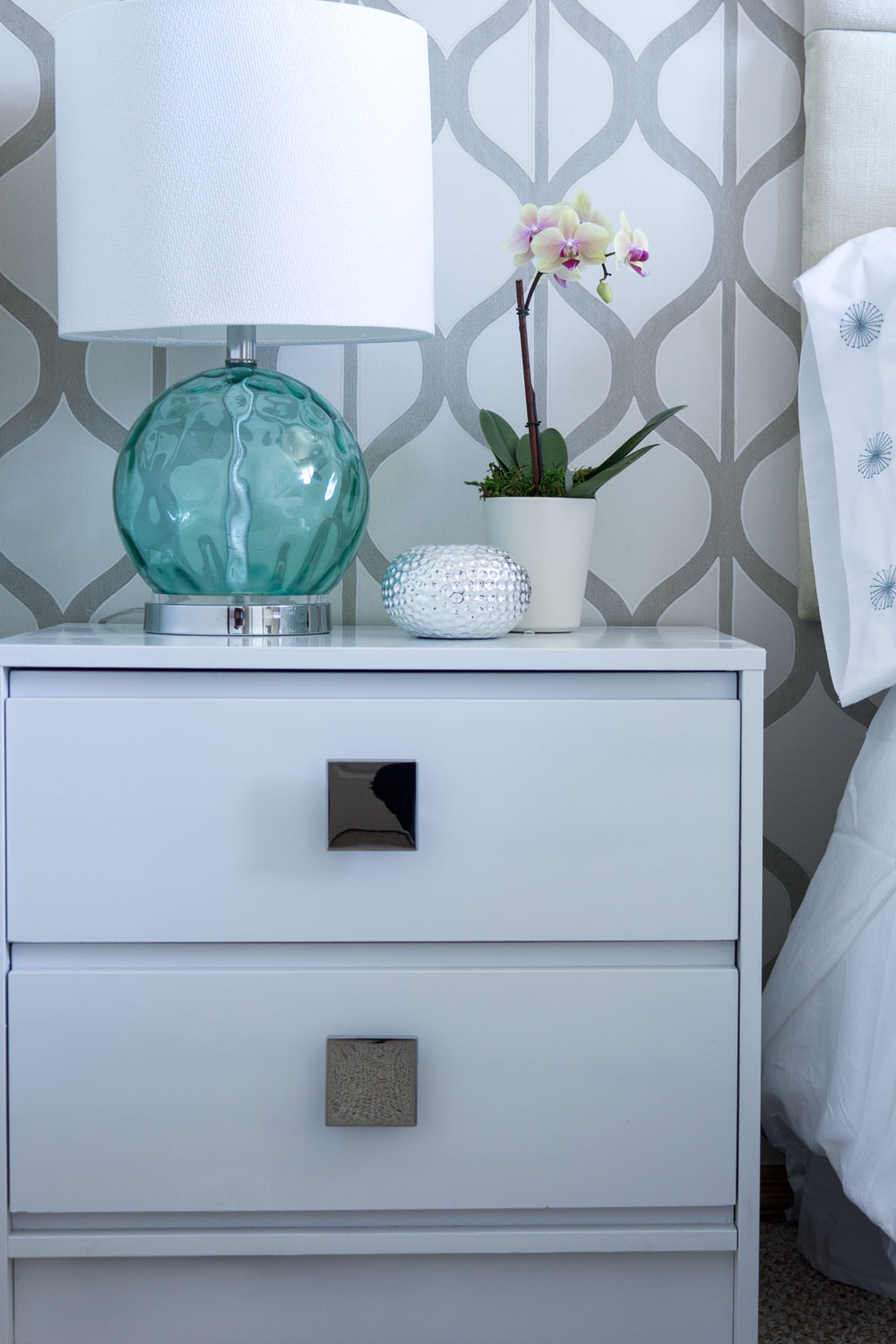 DIY upcycled thrift side table