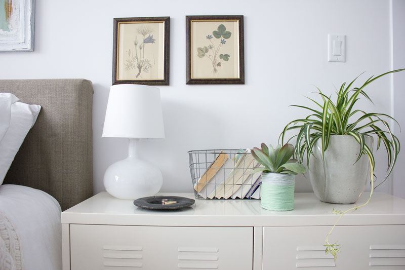 elements for a simple bedside table
