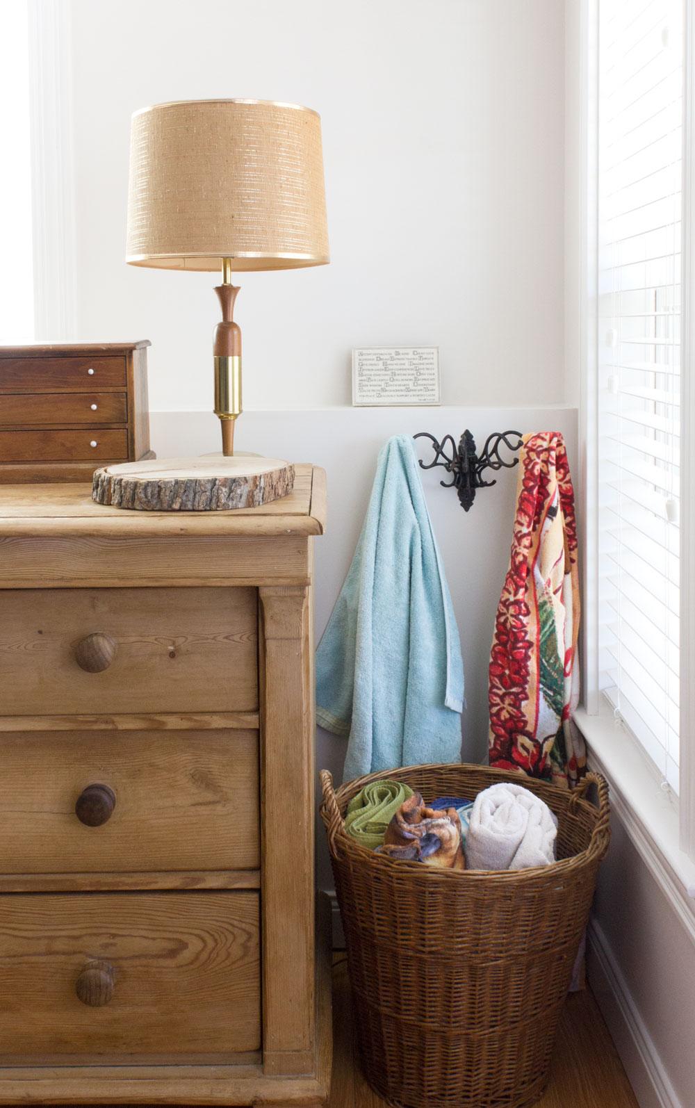antique rack for hanging towels