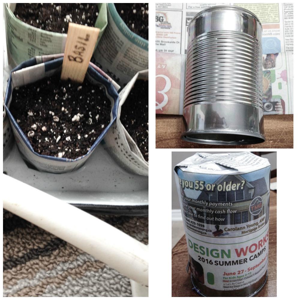 如何用回收的报纸制作种子播种机