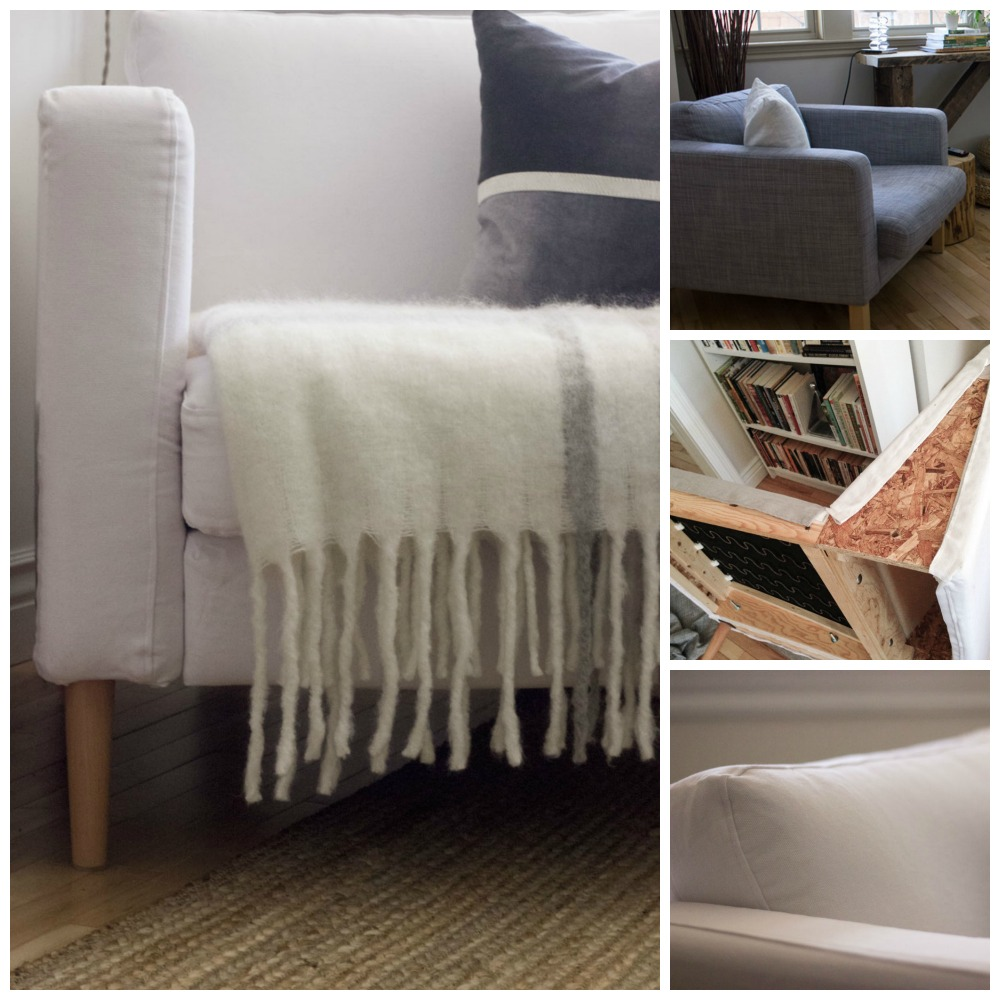 IKEA Karlstad custom slipcover DIY
