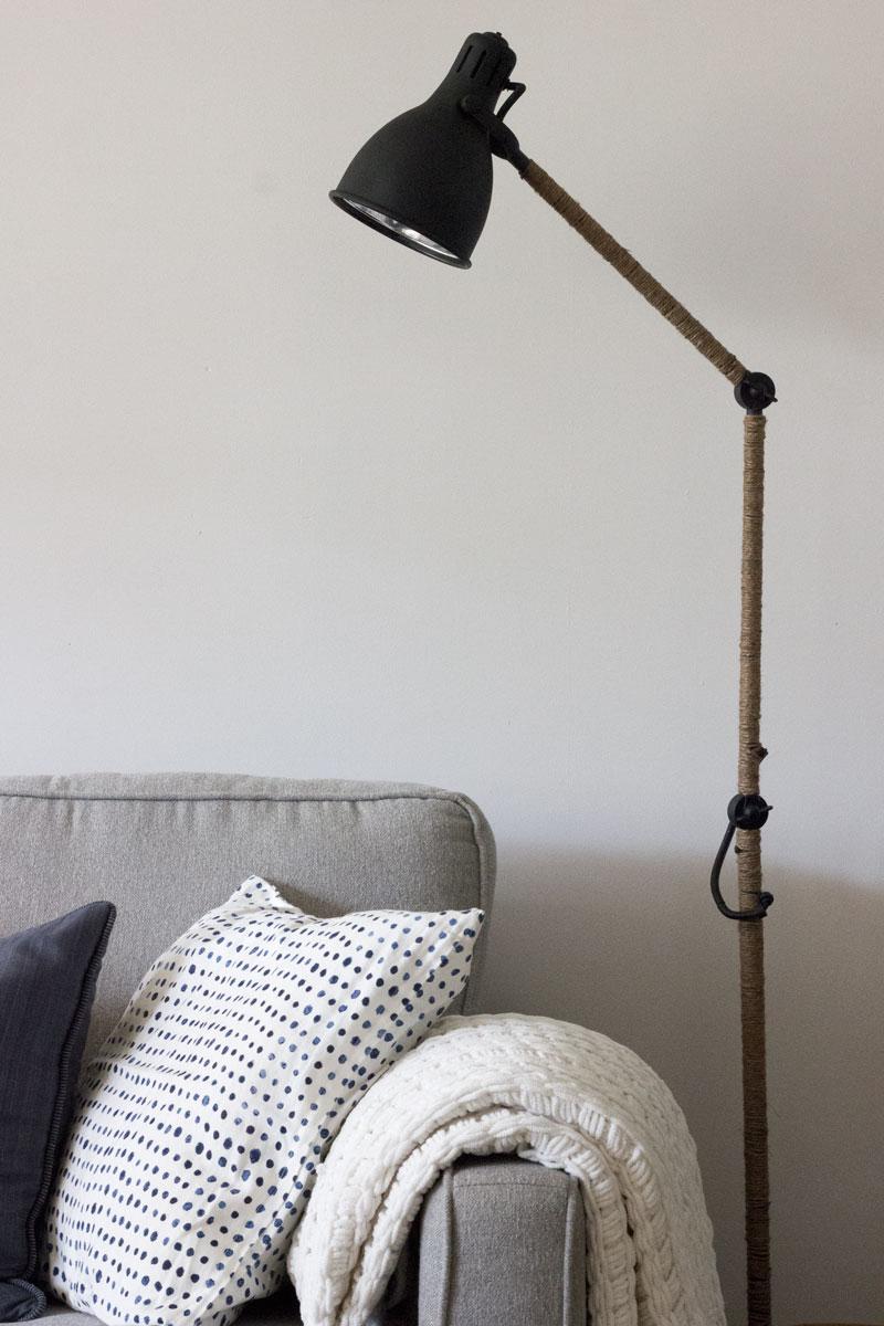 West Elm Inspired Industrial Floor lamp - IKEA hack
