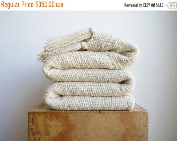 organic wool throw