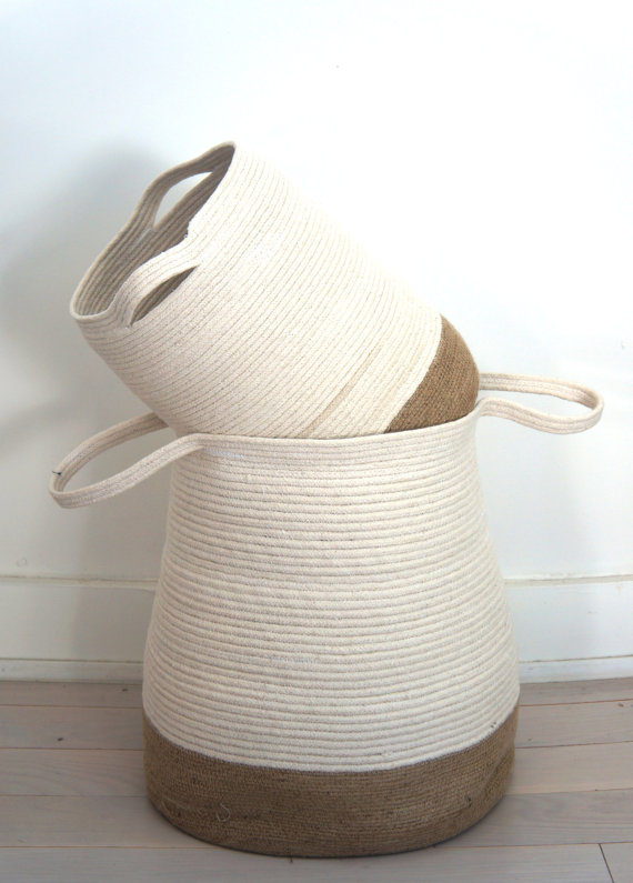 jute and cotton baskets for an eco-friendly home