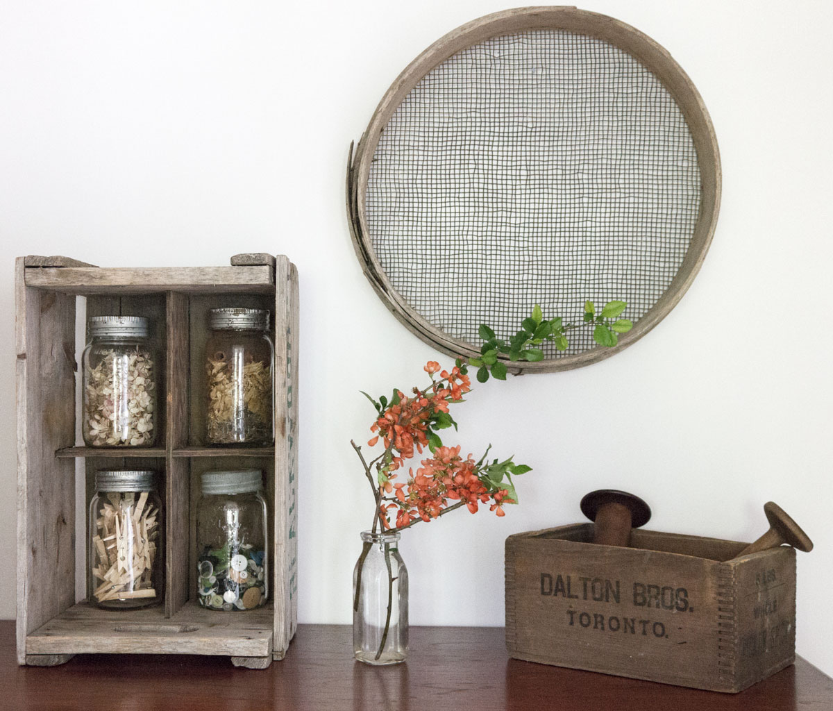ideas for using Spring branches and blossoms to decorate
