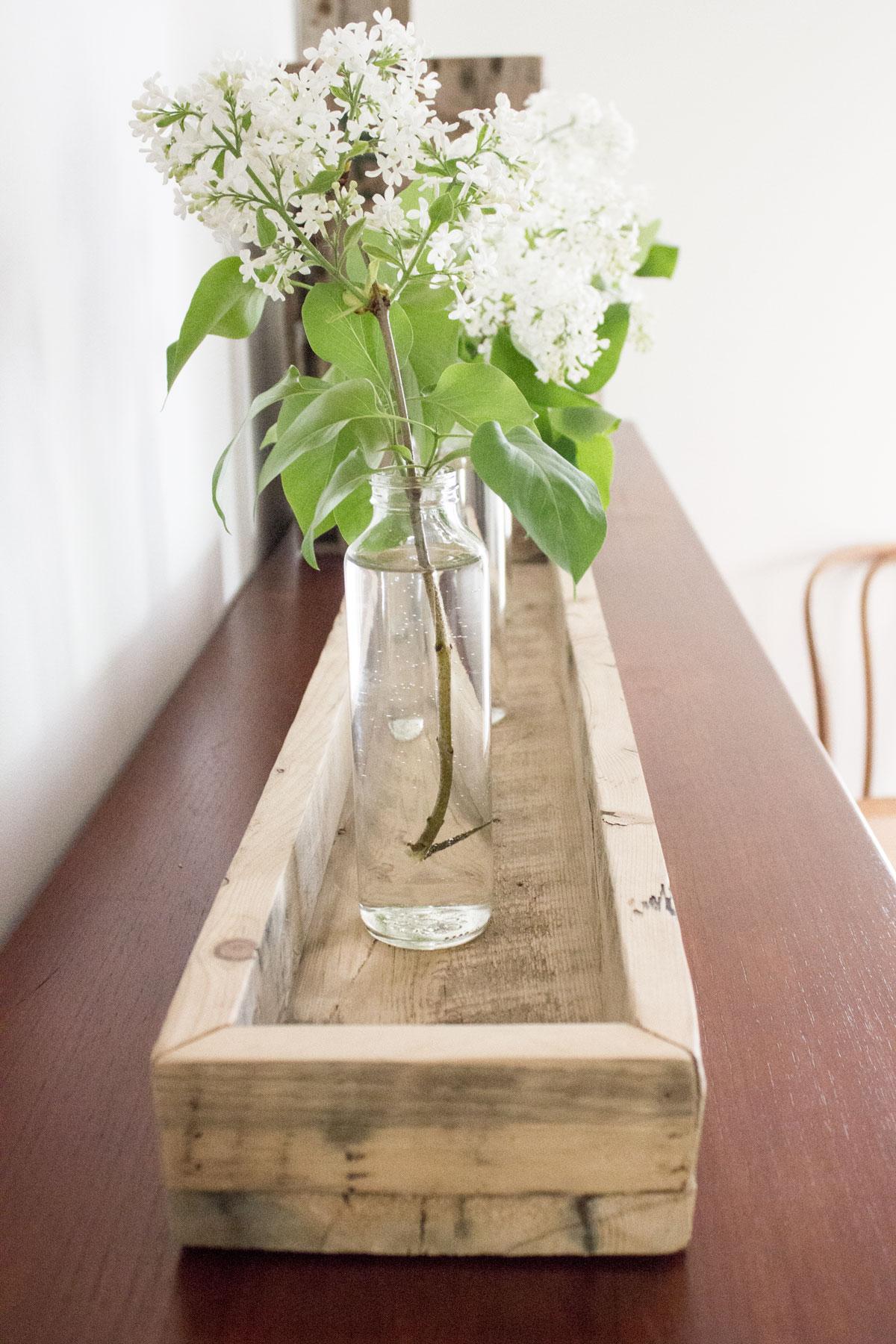DIY reclaimed barn board tray