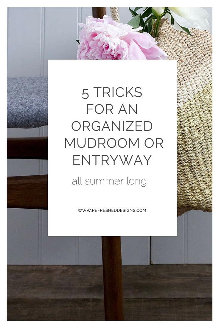 5 tricks to an organized summer entryway