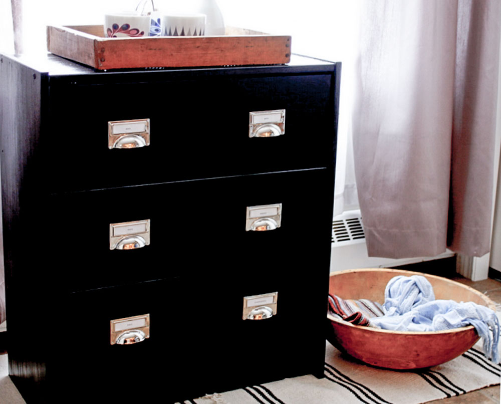 IKEA RAST chest hack for industrial modern entryway