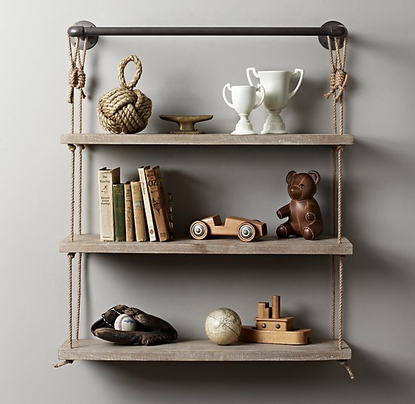 rope shelves via RH Baby and Child