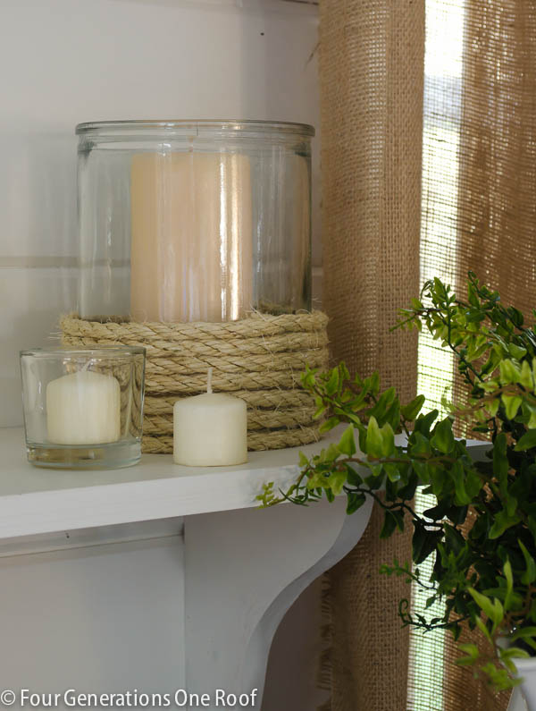 rope candle holder - click for source
