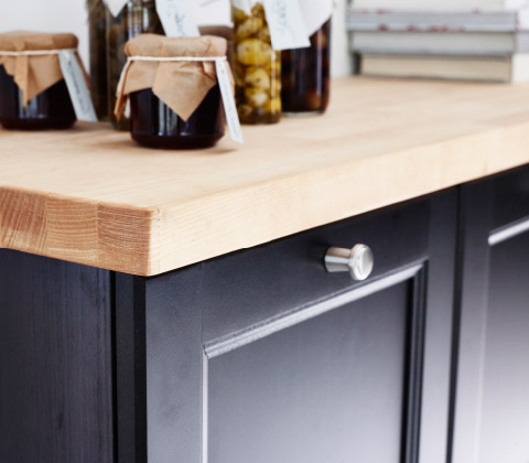 Wood countertop by IKEA