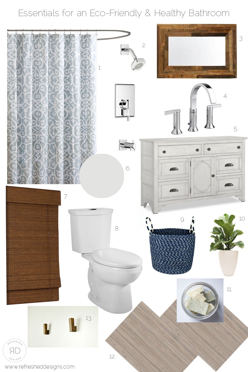 how to design and eco-friendly and healthy bathroom