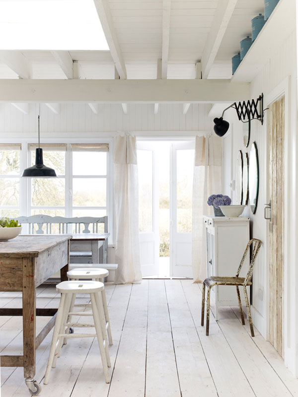 creating a white summer cottage with just paint