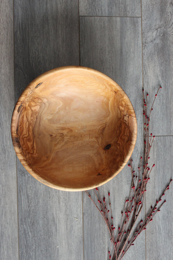 wood salad bowl - best of Etsy handmade summer home