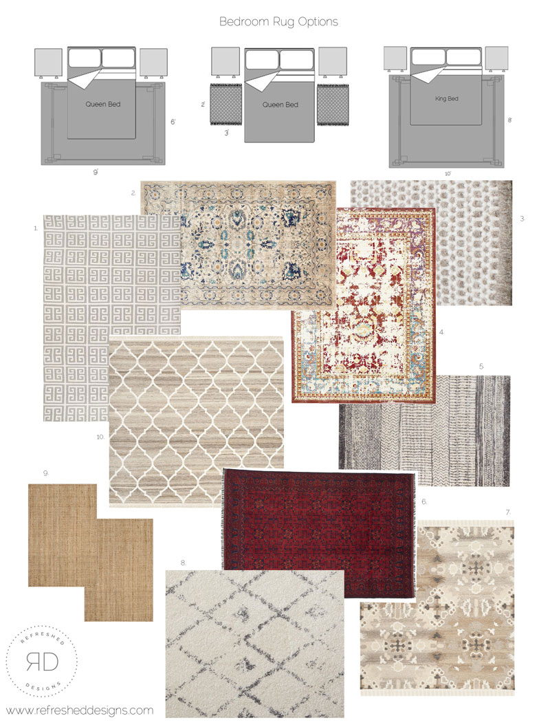 A simple guide to rugs in the bedroom - correctly sizing and choosing the right rug