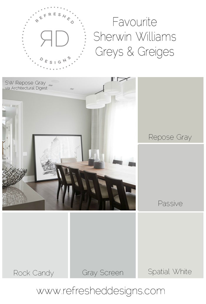 Sherwin Williams Repose Gray - Architectural Digest