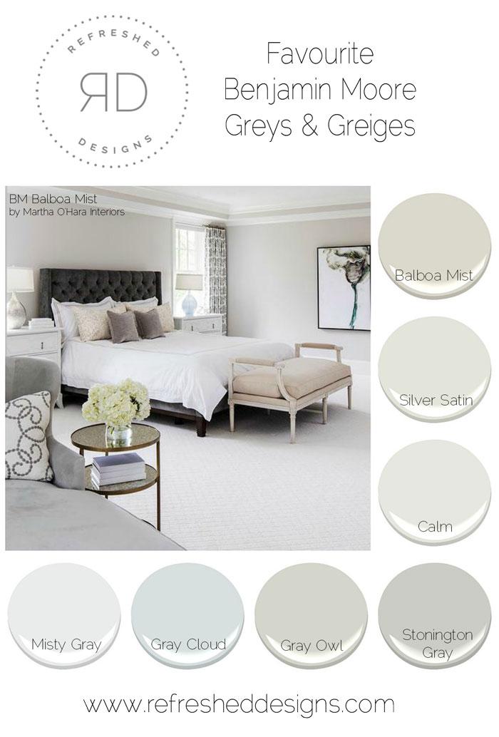 The best grey paints - Benjamin Moore favourite greys