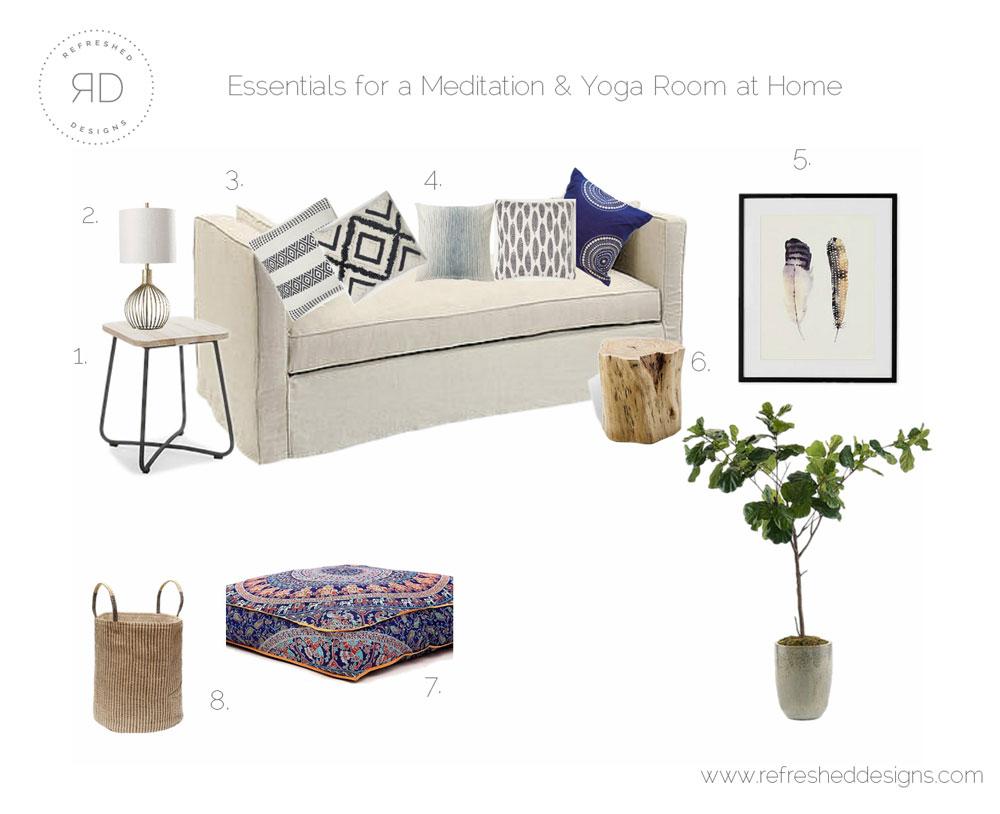 如何在家设计冥想和瑜伽室