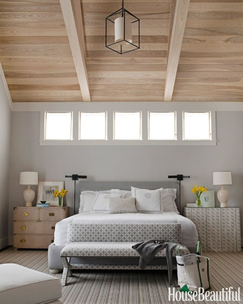 BM Gray Owl works well with light wood - via House Beautiful