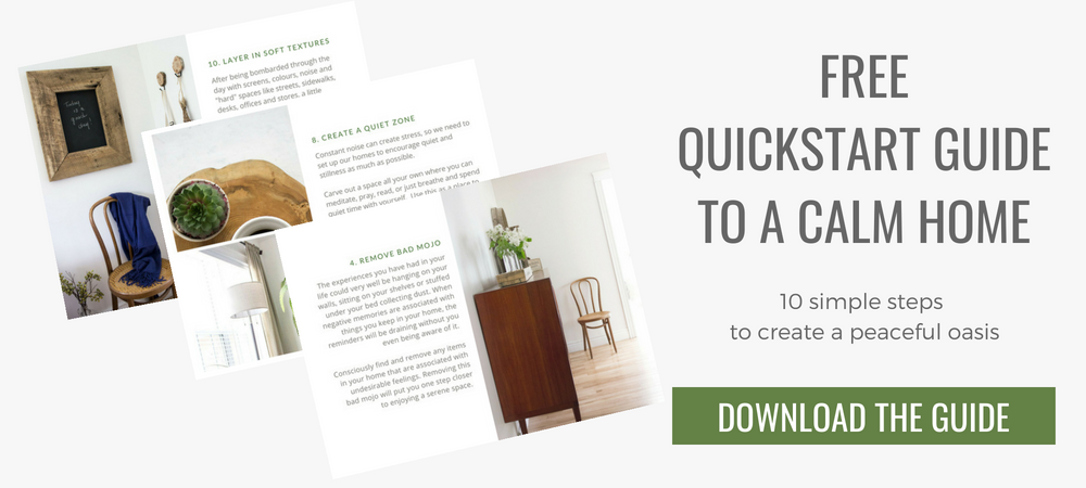 free quickstart guide to a calm home
