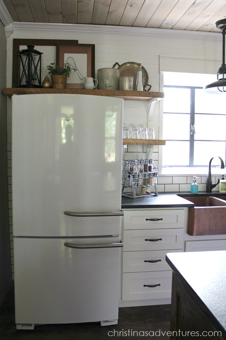 How to use the weird space above the fridge