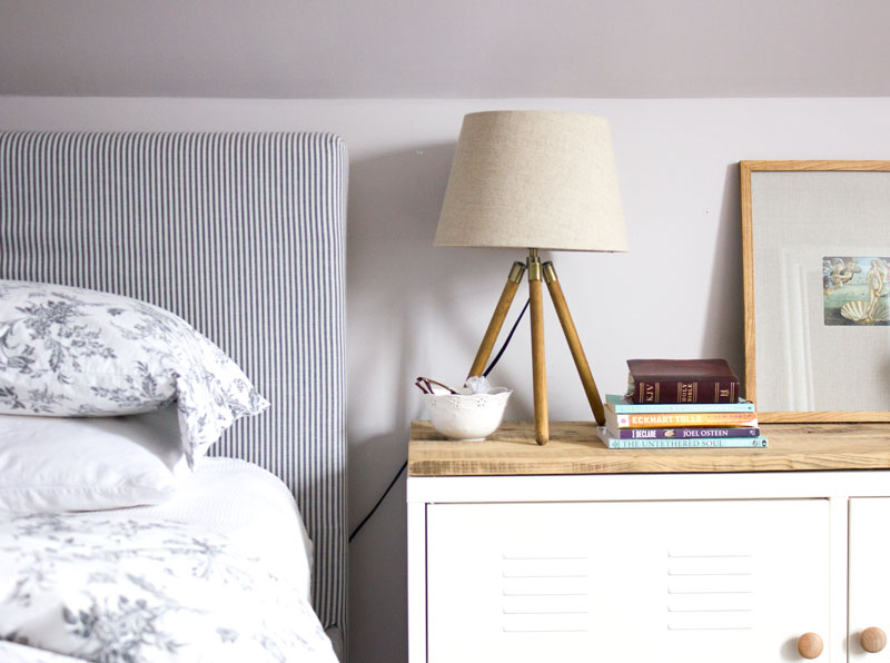 how to have a serene bedside table