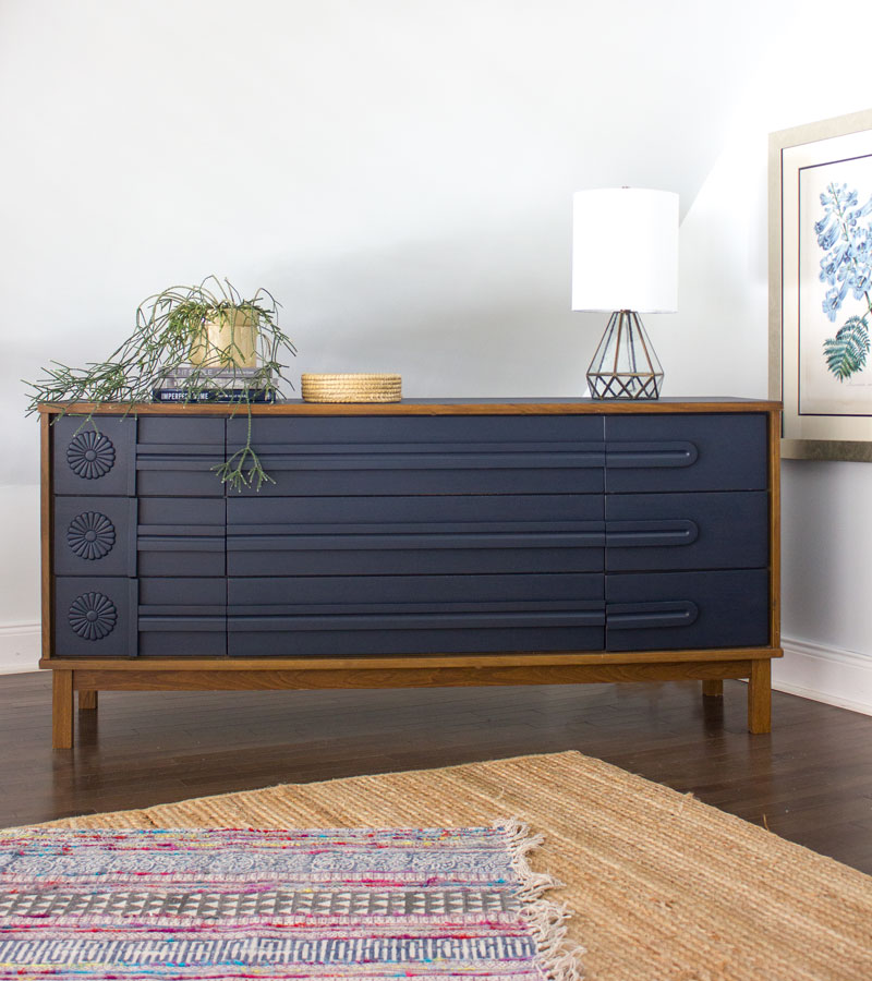 Fusion Mineral Paint Midnight Blue Dresser
