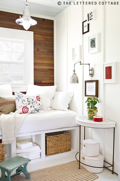 reclaimed wood flooring used as accent wall