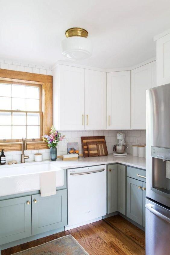 双色油漆厨房橱柜
