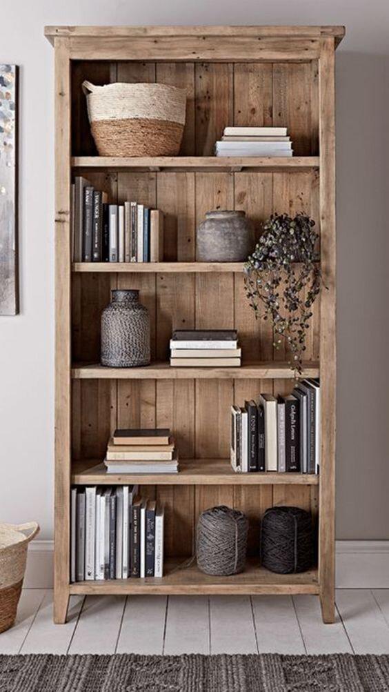 独立木质书架造型