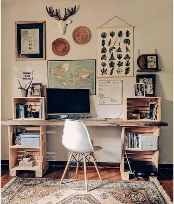家庭办公室DIY桌