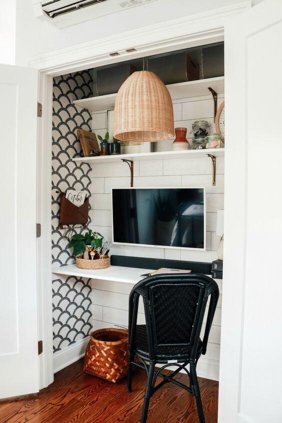 家里的壁橱办公室
