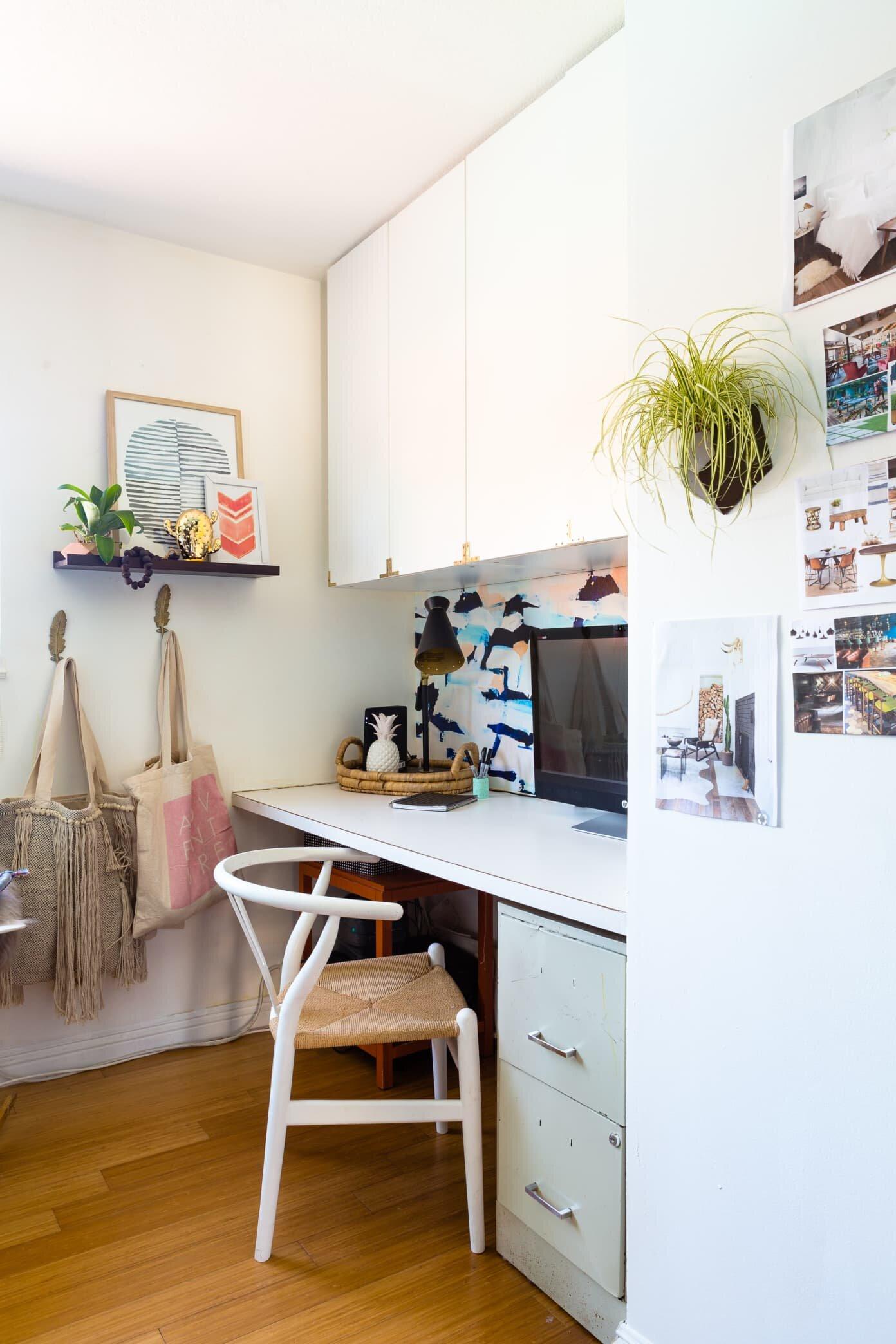 小型家庭办公室创意存储