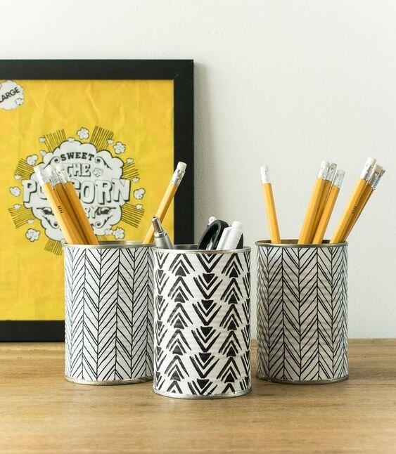 tin can pencil holders - desk organization.jpg