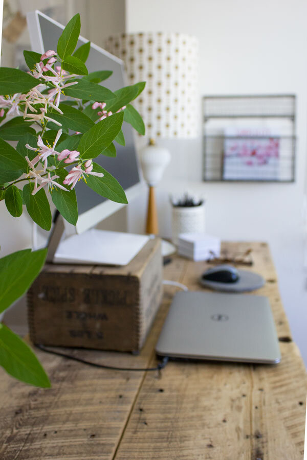 how to set up a functional work desk at home