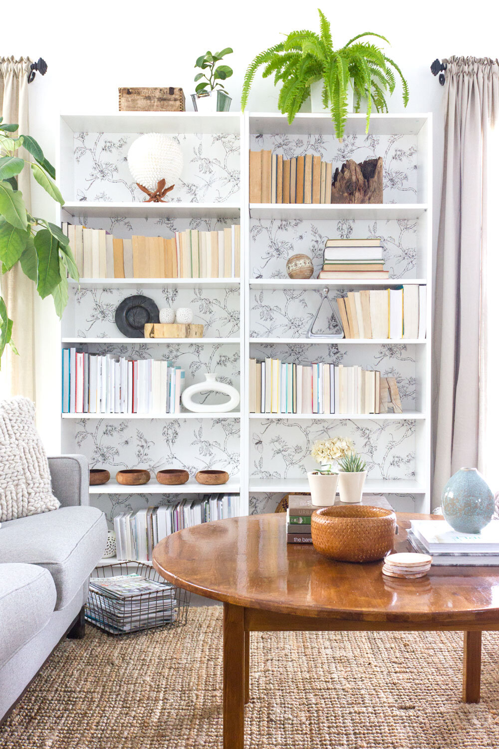 how to style a bookshelf the simple way