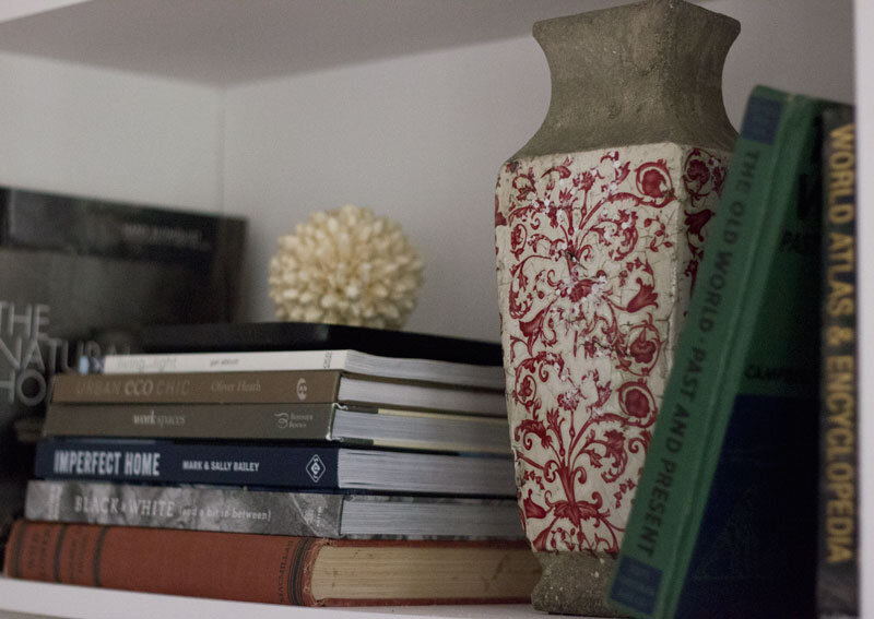 how to style a real-life bookshelf