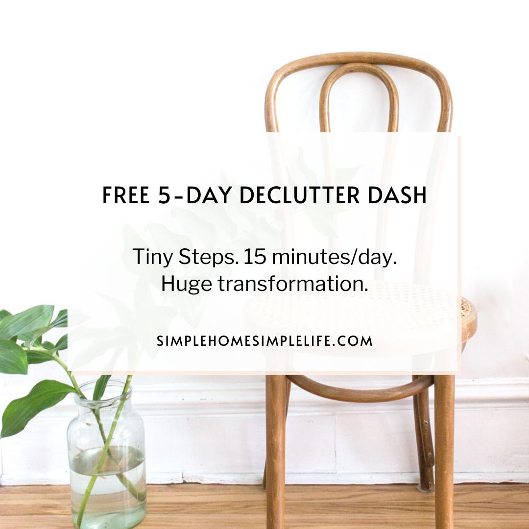 免费7天简单课程-学习如何开始简化你的家