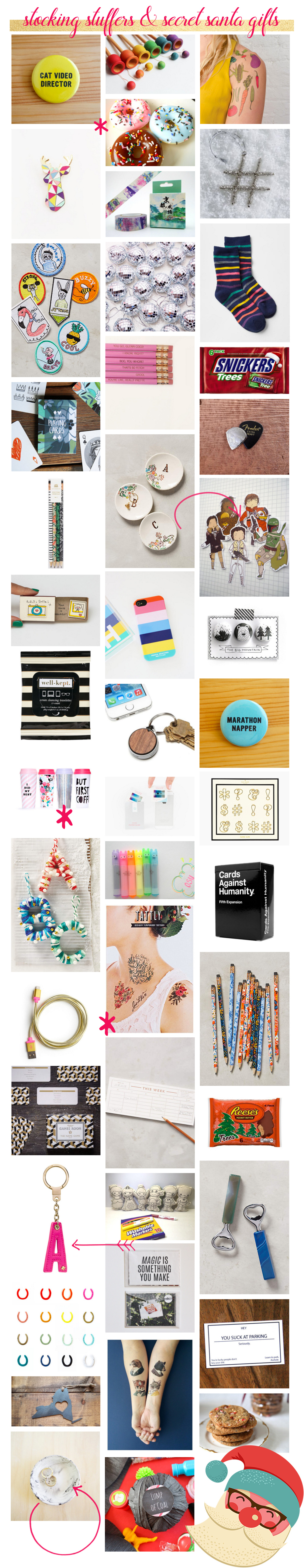 Stocking Stuffers + Secret Santa Gifts