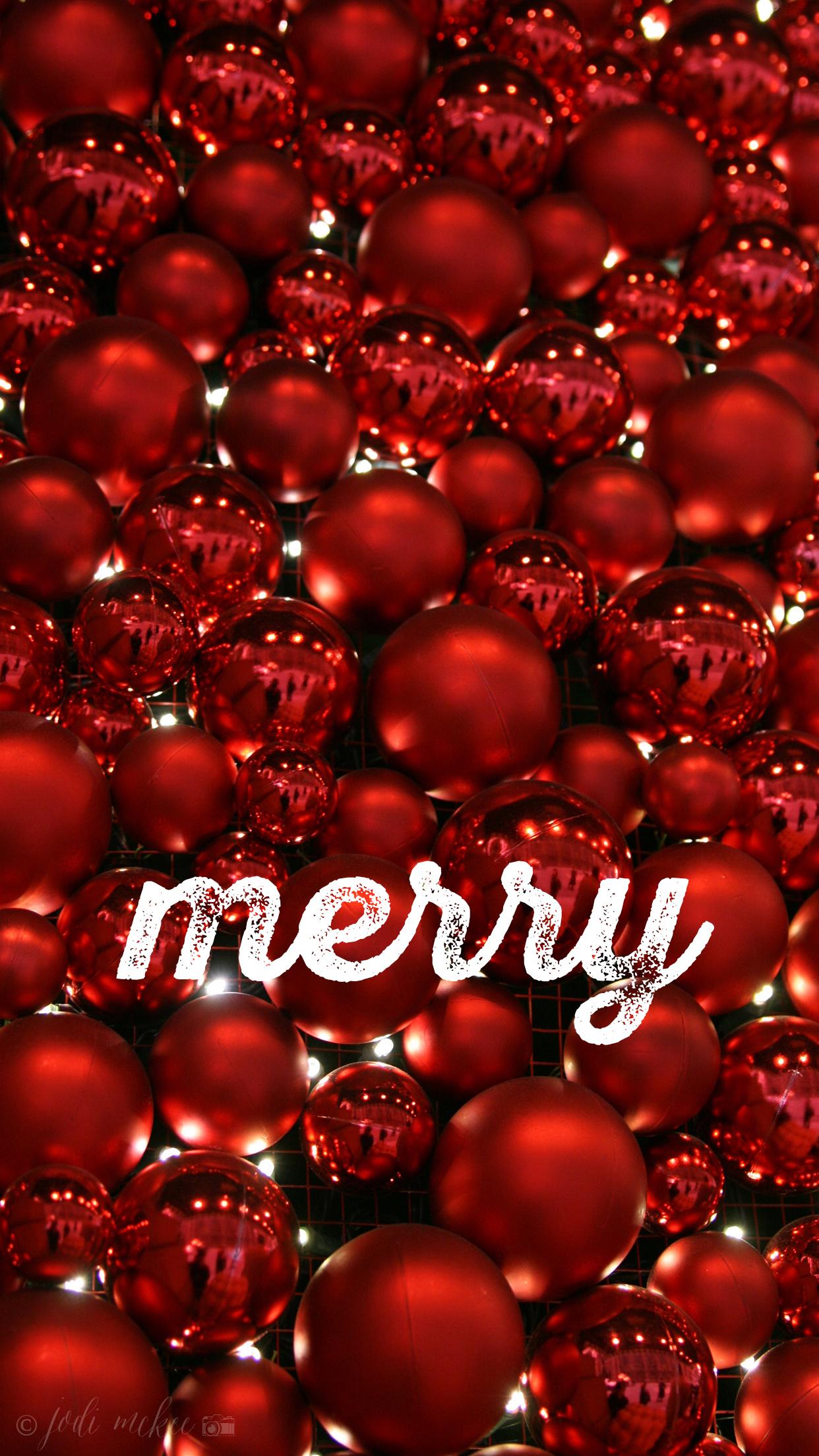 merry iPhone wallpaper