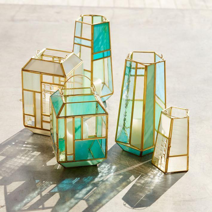 Paneled Glass Lanterns, west elm