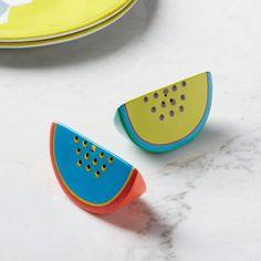Melon Slice Salt + Pepper Shakers