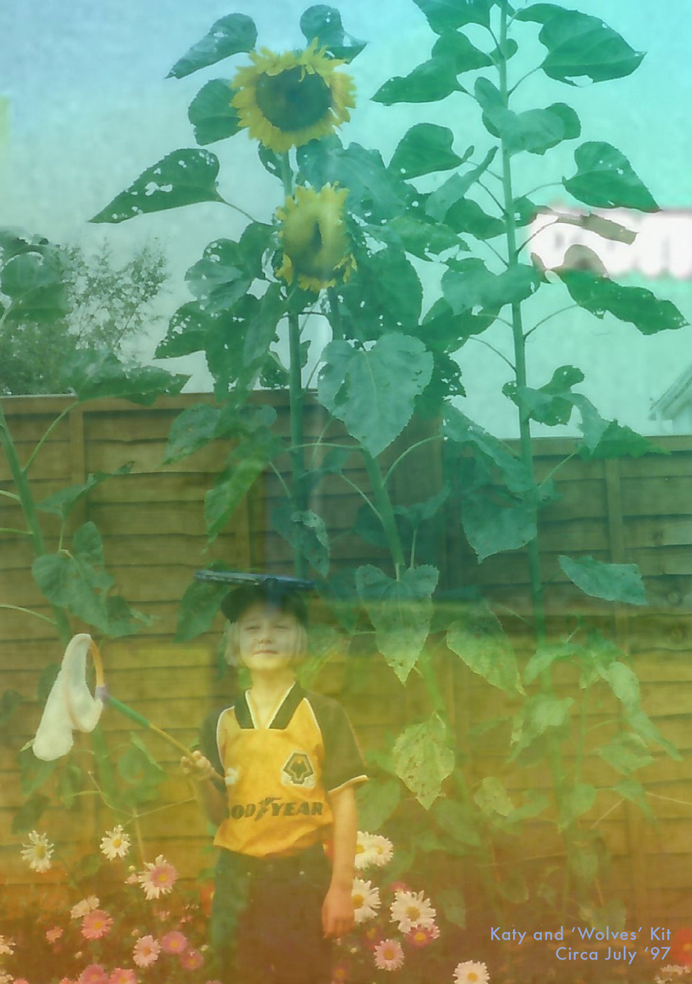 Katie went to every non-school uniform day at secondary school in a Wolves football kit