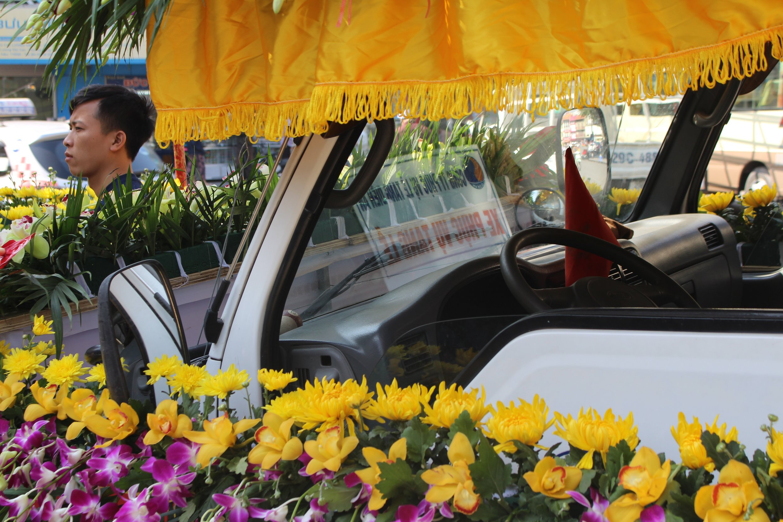 A funeral procession, Hanoi
