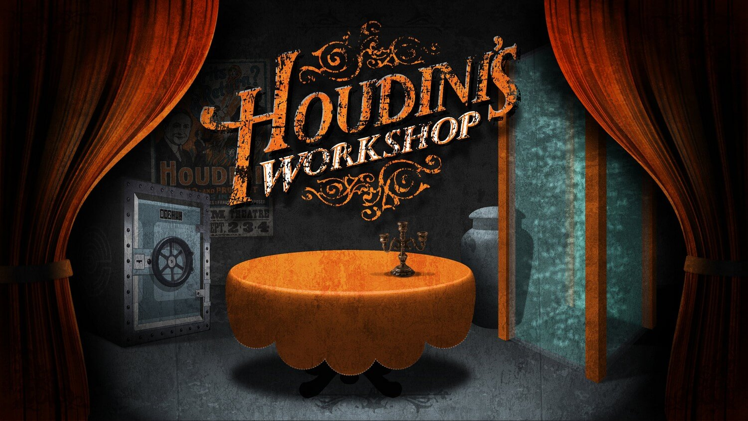 houdini's workshop - AVAILABLE AT NEW TOWN:It has been rumoured that The Great Harry Houdini – the long-deceased master magician and escapologist – left behind a secret workshop in the heart of the city. Away from prying eyes, it is said to be the place that his very best tricks and performances were developed and practiced to perfection. Come, see for yourself what wondrous illusions await in Houdini's Workshop…