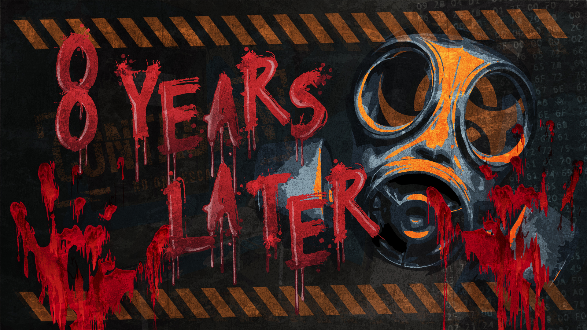 8 years later - AVAILABLE AT HAYMARKET:8 years ago we failed to contain the virus, resulting in the death of 98% of the human population. In a last ditch attempt your group has returned to the lab where the virus originated in a desperate attempt to solve humanities troubles. With the infected at the door will you have enough time to complete your mission or perish trying.