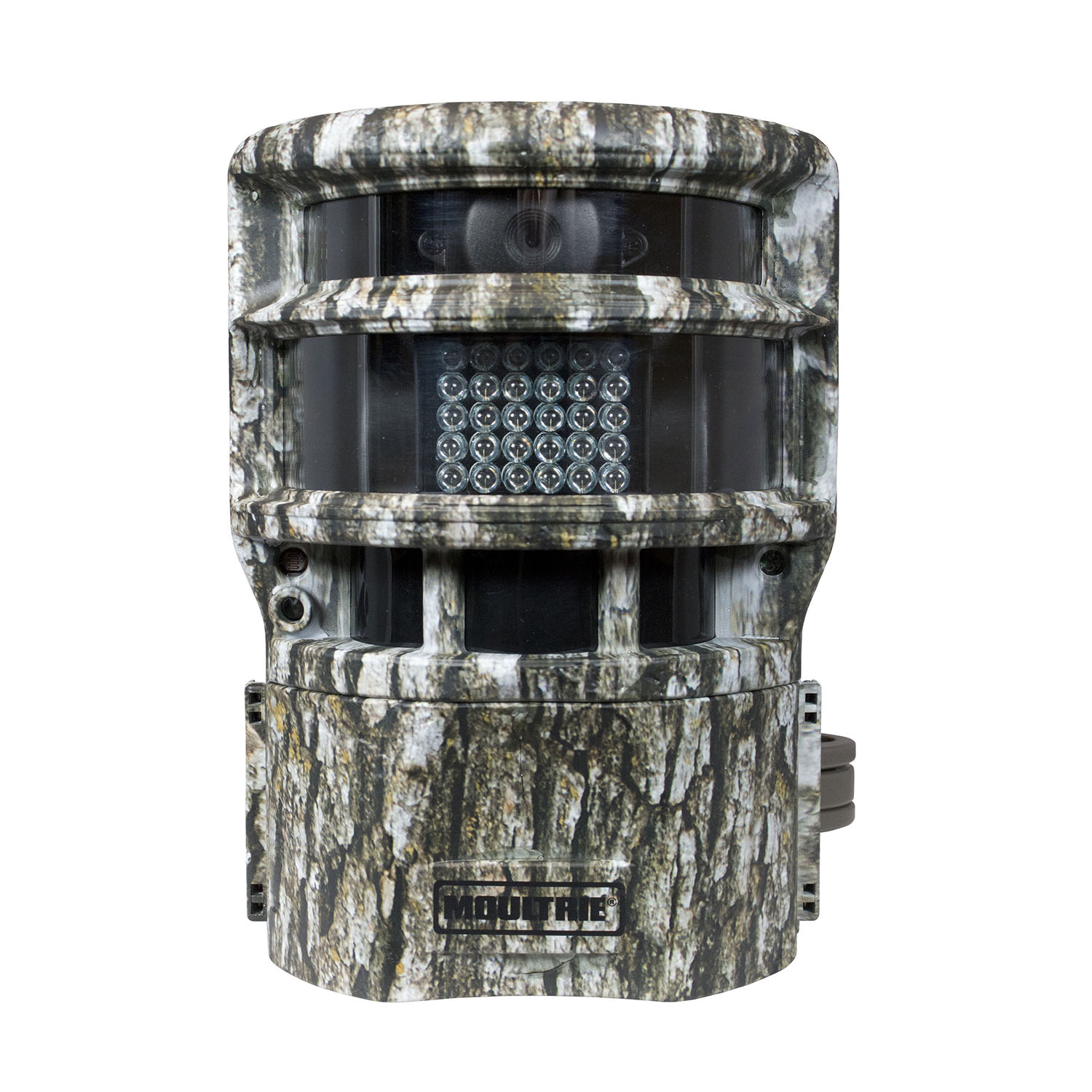 Moultrie: Panoramic 150:Game Camera   The Panoramic 150 is a specialty game camera for capturing high quality, super-wide digital images of deer and other wild game on your land or hunting camp. With up to a 70-foot night range, this 8 megapixel infrared panoramic game camera has three motion sensors to cover a super wide, 150-degree detection angle. The Silent-Slide lens rotates to take photos or videos whenever motion is detected without spooking game, while the Illumi-Night sensor provides bright, clear nighttime images. The camera has five operational modes: infrared triggered-game camera, time-lapse plot camera—plot camera by day, motion detect camera at night—HD video day and night. The SD memory card slot accommodates up to 32GB. The camera is also password protected.  MSRP: $259    www.moultriefeeders.com