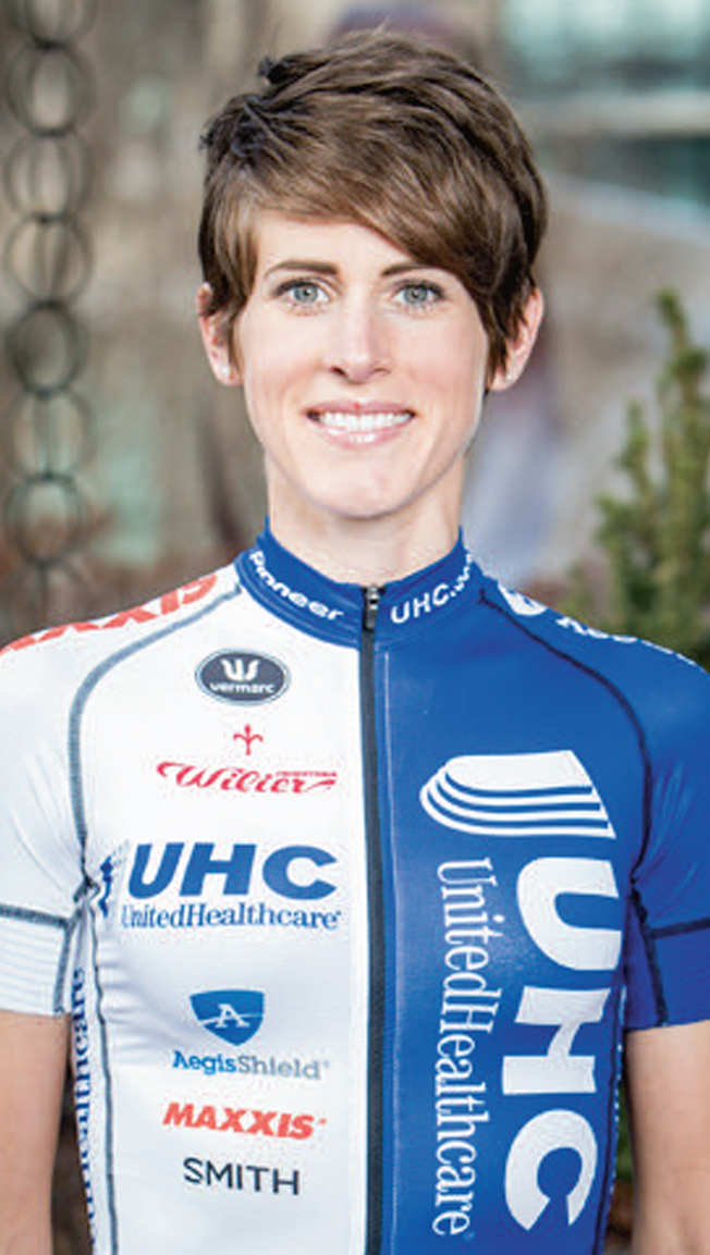 SCOTTI WILBORNE-LECHUGA   met Ernie Lechuga in 2009. Lechuga convinced her to try cycling and began coaching her. Together, they successfully balanced her racing career with raising their 3-year-old twin boys and operating a coaching business. Wilborne-Lechuga raced with the U.S. National Team in 2013. In 2014, she joined the UnitedHealthcare Pro Cycling team and competed in the Giro Rosa and the inaugural women's Tour de France, La Course. Her long-term goal is to be selected for the world championship team and the Olympics. One of her most memorable rides dates back to early riding and coaching days with Lechuga. During a long, hot ride she bonked and Lechuga gave her a Coke. She didn't drink Cokes but took it anyway. She bounced back and was able to make it home. She now drinks Cokes regularly after hard rides and races.