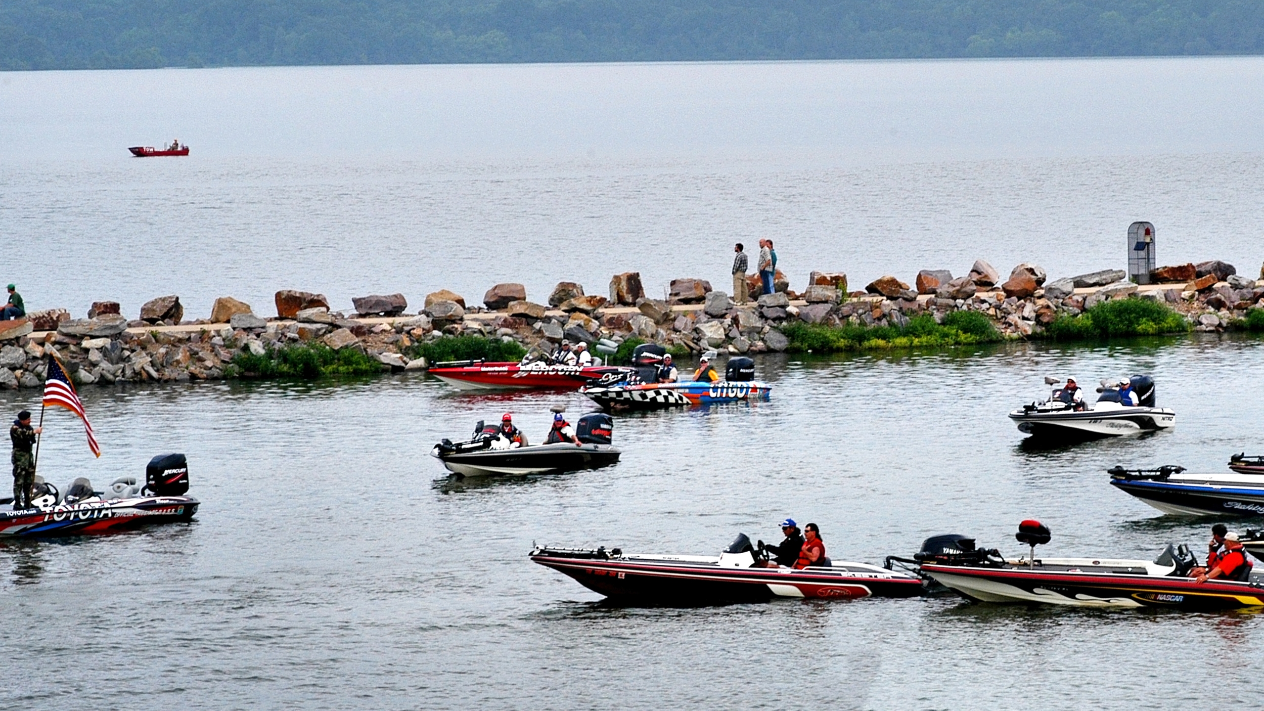 Lake Dardanelle plays hosts to numerous tournaments, including the Bassmaster Elite 50.